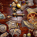 Steampunk - Gears - Reverse engineering Print by Mike Savad