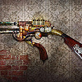 Steampunk - Gun - The sidearm Print by Mike Savad