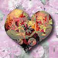 Steampunk Heart Print by The Art of Marsha Charlebois