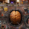 Steampunk - Information overload Print by Mike Savad