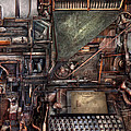 Steampunk - Machine - All the bells and whistles  Print by Mike Savad