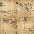 Steampunk Raygun Print by James Christopher Hill