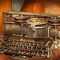 Steampunk - The history of typing Print by Mike Savad