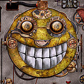 Steampunk - The joy of technology Print by Mike Savad