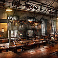 Steampunk - The Workshop Print by Mike Savad