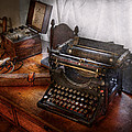 Steampunk - Typewriter - The secret messenger  Print by Mike Savad
