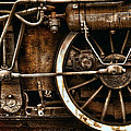 Steampunk- Wheels of vintage steam train Poster by Daliana Pacuraru