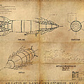 Steampunk Zepplin Poster by James Christopher Hill