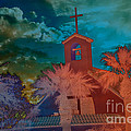 Steeple bell tower Print by Beverly Guilliams