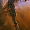 Stellar spire in the Eagle Nebula Poster by Adam Romanowicz