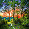 Stepping Stones to the Light Print by Marvin Spates