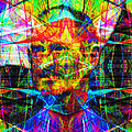 Steve Jobs Ghost In The Machine 20130618 Square Poster by Wingsdomain Art and Photography