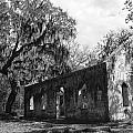 St.Helena Chapel of Ease BW 1 Print by Steven  Taylor