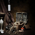 Still Life - General Vintage Items Print by Tom Mc Nemar
