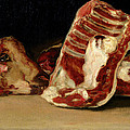 Still Life of Sheep's Ribs and Head Poster by Francisco Jose de Goya y Lucientes