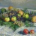 Still Life with Pears and Grapes Print by Claude Monet