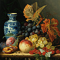 Still Life With Rasberries Print by Edward Ladell