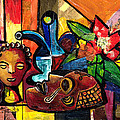 Still Life with Terracotta and Mask 2008 Print by Everett Spruill