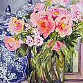 Still Life with Two Blue Ginger Jars Poster by Joan Thewsey