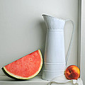 Still Life with Watermelon Print by Krasimir Tolev