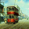 Stockport tram. Poster by Mike  Jeffries