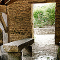 Stone Bench Print by Olivier Le Queinec