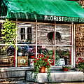 Store - Florist Print by Mike Savad