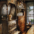 Store - Turn of the century soda fountain Poster by Mike Savad