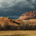 Storm Clouds Rising over Mount Kinesava Zion Park Rockville Utah Print by Robert Ford