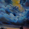 Storm coming at the sunset Poster by Alessandra Andrisani