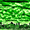 Storm Over the Emerald City Poster by David Patterson