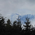 Stormy Day at Mt. Rainier Print by Kay Gilley