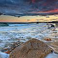 Stormy Sunset Seascape Print by Katherine Gendreau