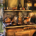 Stove - What's for dinner Print by Mike Savad