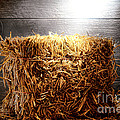 Straw Bale in Old Barn Poster by Olivier Le Queinec