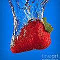 Strawberry Slam Dunk Print by Susan Candelario