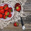 Strawberry vintage Poster by Jane Rix