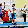 Street Musicians of Rome Print by Mountain Dreams
