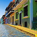 Streets of Old San Juan Print by Stephen Anderson