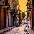 STREETS of SAN JUAN Print by KAREN WILES