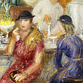 Study for The Soda Fountain Print by William James Glackens