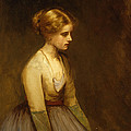 Study of a fair haired beauty  Print by Jean Jacques Henner