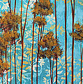 Stunning Abstract Landscape Elegant Trees Floating Dreams II By Megan Duncanson Poster by Megan Duncanson