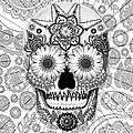 Sugar Skull Bleached Bones - Copyrighted Print by Christopher Beikmann