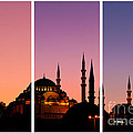 Suleymaniye Sundown Triptych 01 Poster by Rick Piper Photography