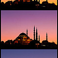 Suleymaniye Sundown Triptych 04 Poster by Rick Piper Photography
