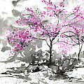 Sumie No.2 Plum Blossoms Print by Sumiyo Toribe