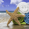 Summer Beach Towels Poster by Amanda And Christopher Elwell