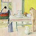 Summer Morning pub in Lasst Licht Hinin Let in More Light Poster by Carl Larsson