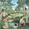 Summer Scene Print by Frederic Bazille